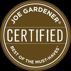 joe gardener® Certified Best of the Must-haves logo / joegardener.com