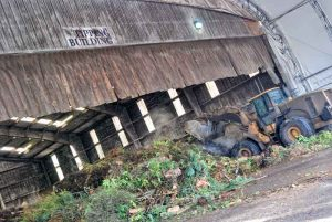 All of Seattle's green waste comes into this building on a daily basis