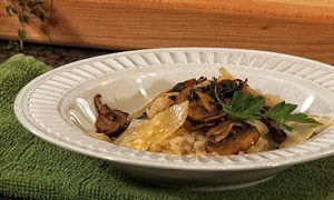 Risotto with Thyme Braised Mushrooms