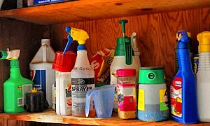 Store Lawn & Garden Chemicals Safely