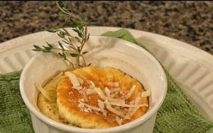 Chef Nathan prepares Parmesan Cheese Souffle with fresh eggs