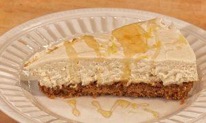 No-Bake Lemon Vanilla Goat Cheese Cheesecake