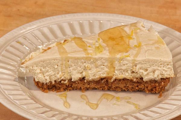 Goat Cheese Cheesecake no-bake lemon vanilla goat cheese cheesecake - growing a greener