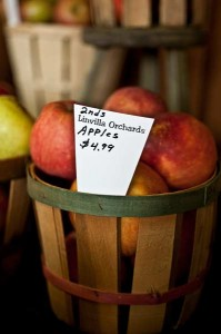 Apples for sale at Linvilla's Farm Market