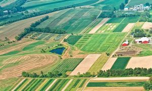 Arial view of the Rodale Institute Organic Farm