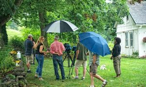 Buglady and GGW crew attempting to shoot in the rain