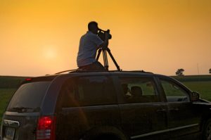 Directory of Photography, Carl Pennington catching the last rays of sunset at the Rodale Institute