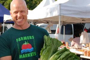 Chef Nathan Lyon at the Farmer's Market