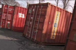 You would never guess that inside these used shipping containers are high-tech hydroponics systems