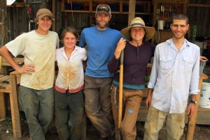 The young farmers of Serenbe Farms.