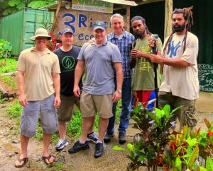 The GGW crew for filming on the Island of Dominica