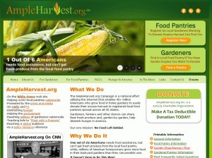 Ampleharvest.org lists the food pantries that can accept your surplus fresh homegrown produce