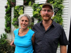 Maya Travaglia and Chuck Hugo invited us out to see the living wall at Emerson Home