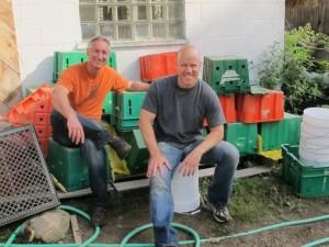Joe and Chef Nathan at Farm School