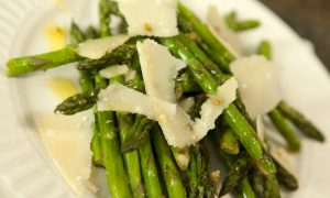 Chef Nathan Lyon prepares fresh pan-roasted asparagus
