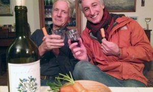 Joe Lamp'l and Eliot Coleman Blueberry Wine and Carrots