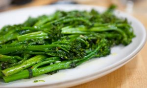 Pan-Roasted Broccolette with Garlic