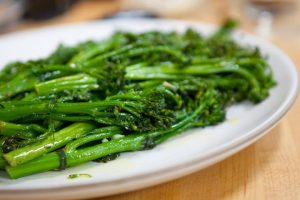 Pan-Roasted Broccolette with Garlic and Red Pepper Flakes