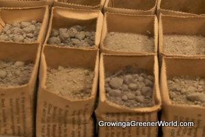 Home Gardener Soil Test Samples in the Lab