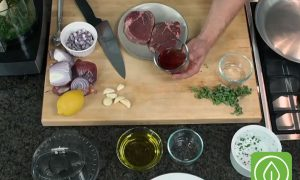 Grassfed Beef Steaks with Chimichurri Sauce