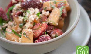 Cantaloupe Strawberry Salad