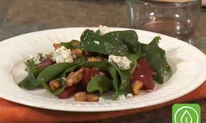 Roast Beet Salad with Bleu Cheese and Candied Walnuts