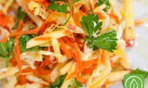 Apple Carrot Cabbage Coleslaw
