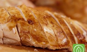 Perfectly roasted turkey breast, brined overnight for flavor, moisture and tenderness