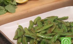 Brown Butter Sugar Snap Peas with Fresh Mint