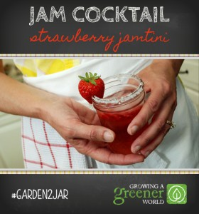 Easy Strawberry Jam Cocktail