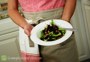 Making Salad Dressing with Jam