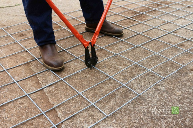 Large bolt cutters and a flat surface make for quick work