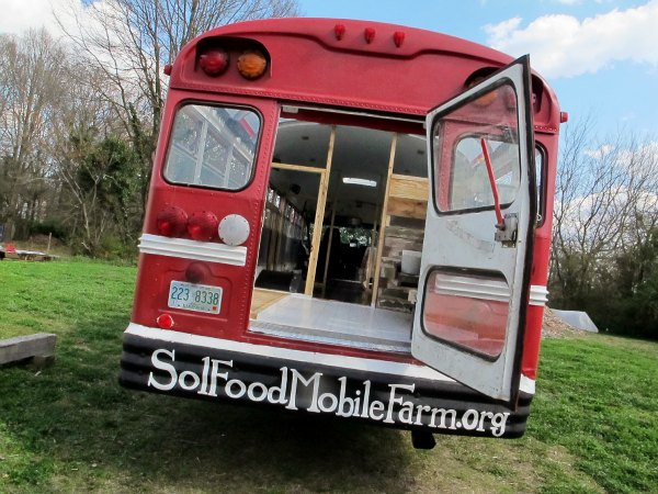Sol Food Mobile Farm Bus-GrowingAGreenerWorld.com