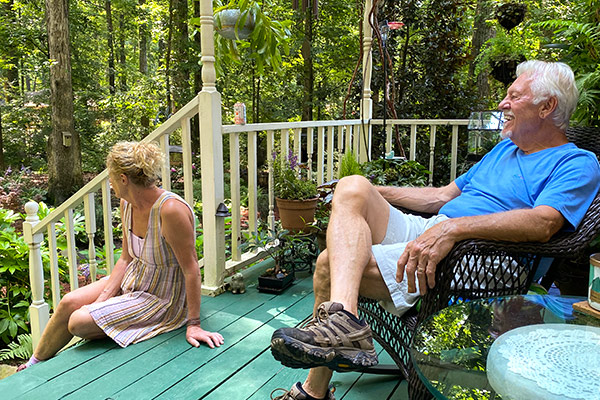 Larry and Margo on their porch